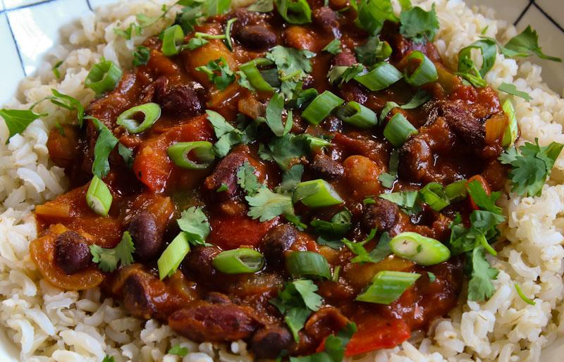 Vegan Chilli and Rice