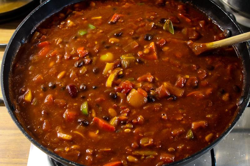 Vegan Chilli Cooking