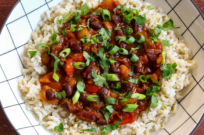 Vegan Lunch - Chilli with Rice