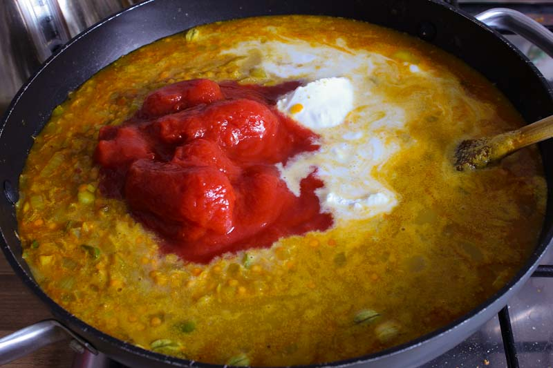 Dal with Tomatoes and Coconut Milk