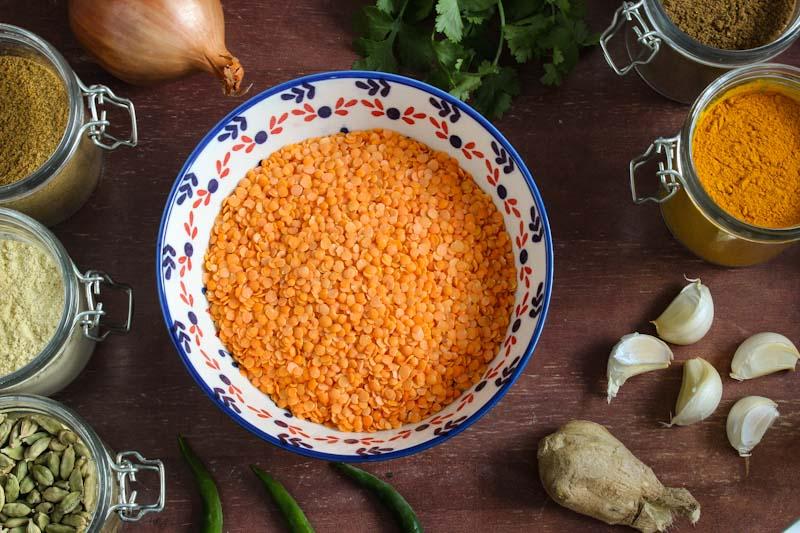 Lentil Dal Ingredients