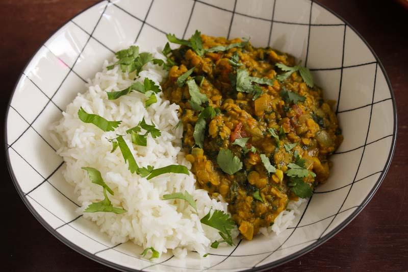 Vegan Lentil Dal with Rice