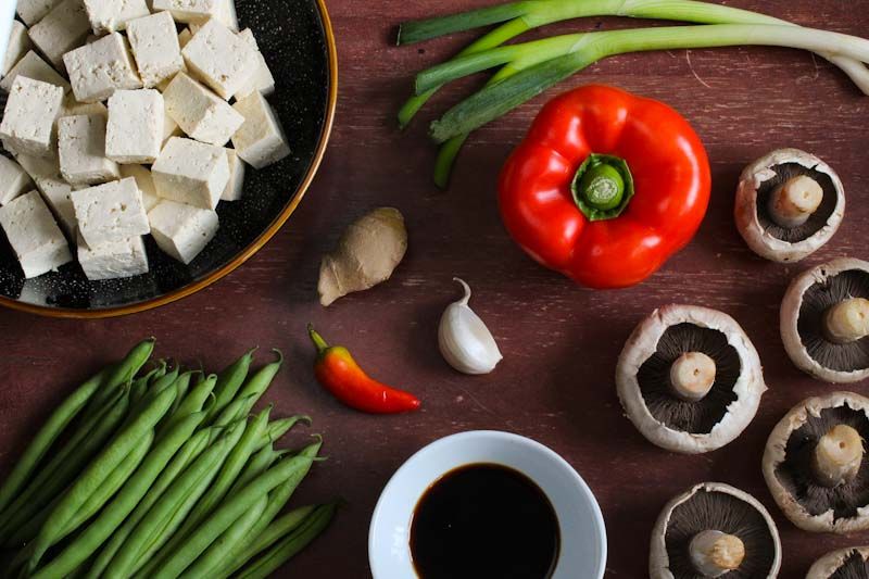 Tofu Stir-Fry Ingredients