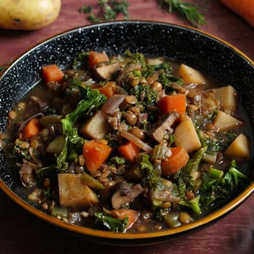 Hearty Vegan Stew In Bowl
