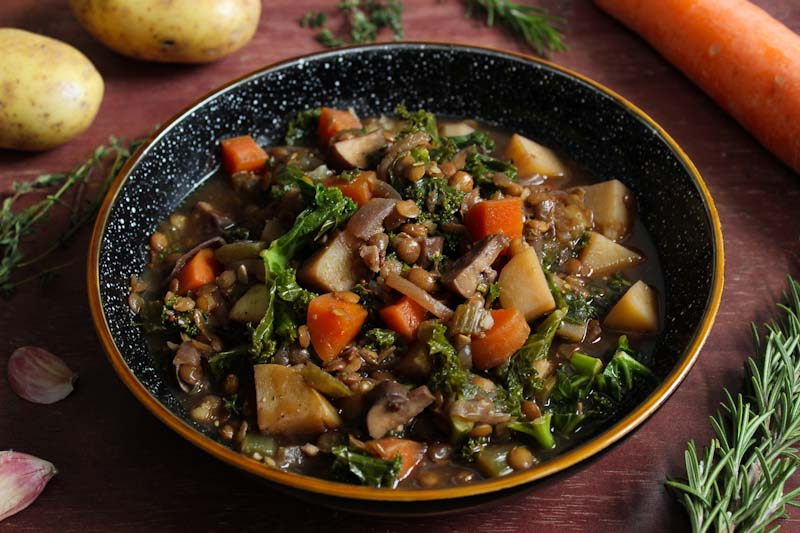 Hearty Vegan Stew In Bowl