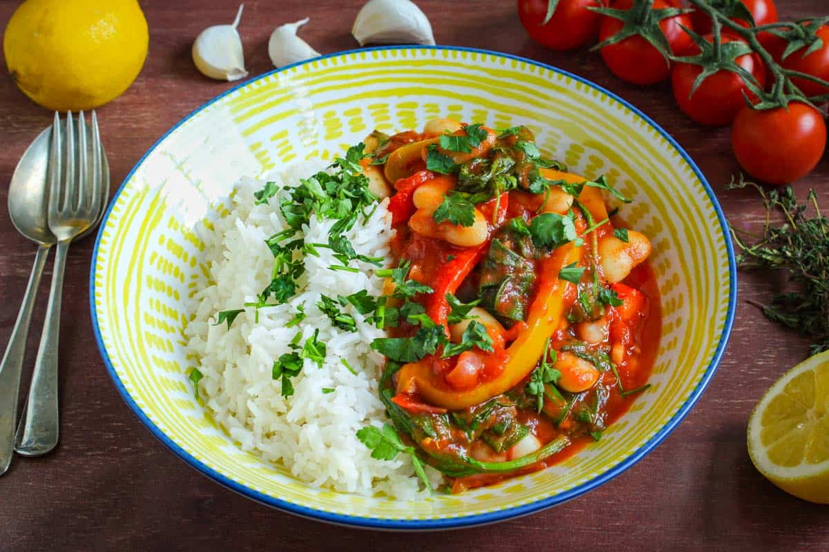Lemony Butter Bean Stew With Rice
