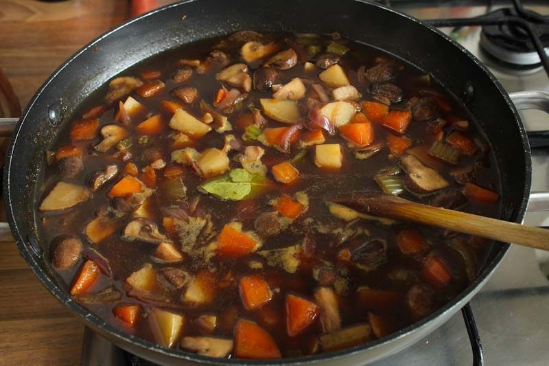 Vegan Stew Cooking