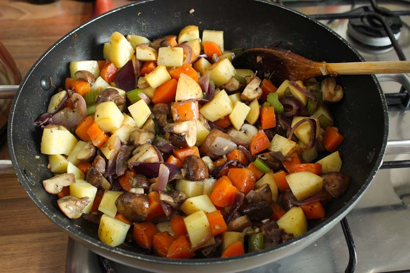 Vegan Stew Ingredients Frying
