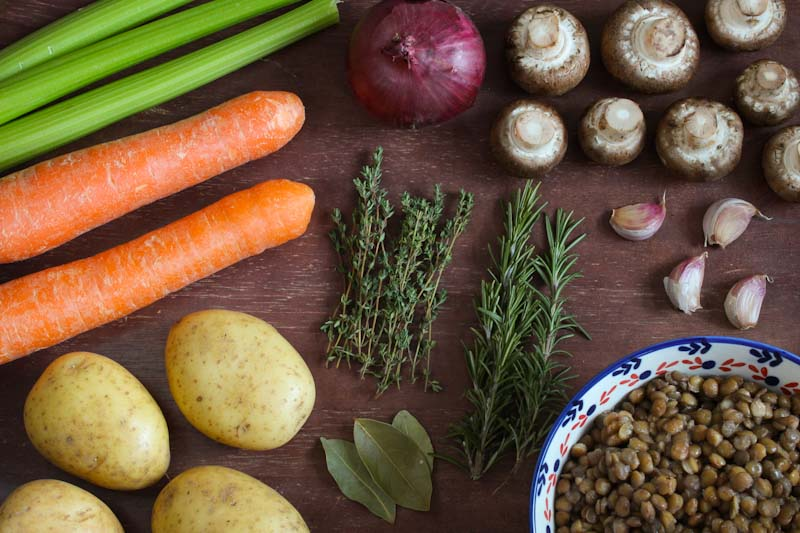 Vegan Stew Ingredients