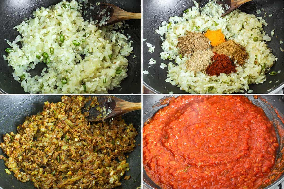Chana Masala Cooking Process