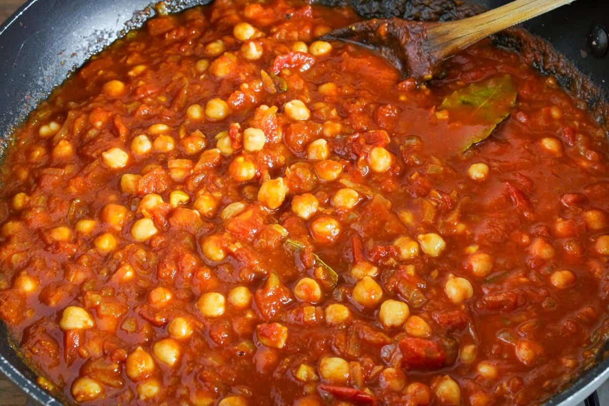 Chana Masala Cooking