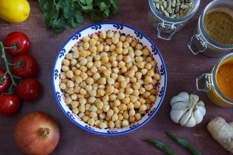 Vegan Chana Masala Ingredients