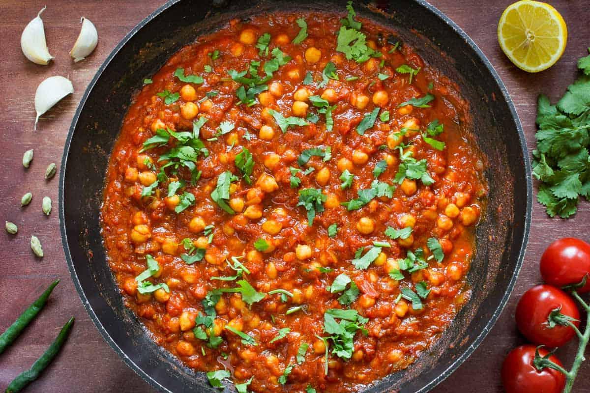 Vegan Chana Masala Overhead