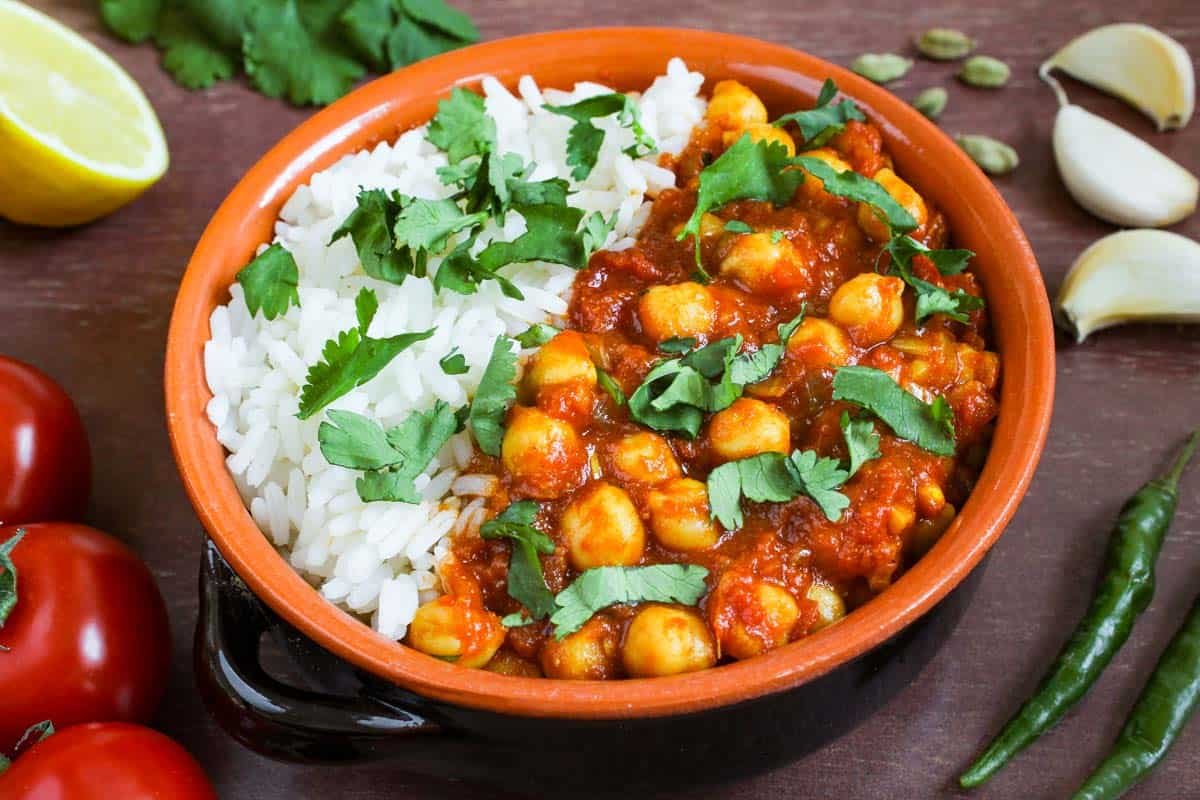 Vegan Chana Masala with Rice