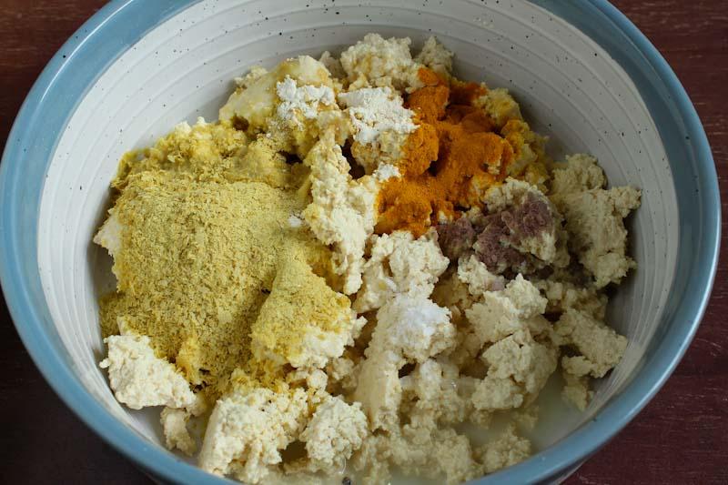 Mashed Tofu and Seasoning