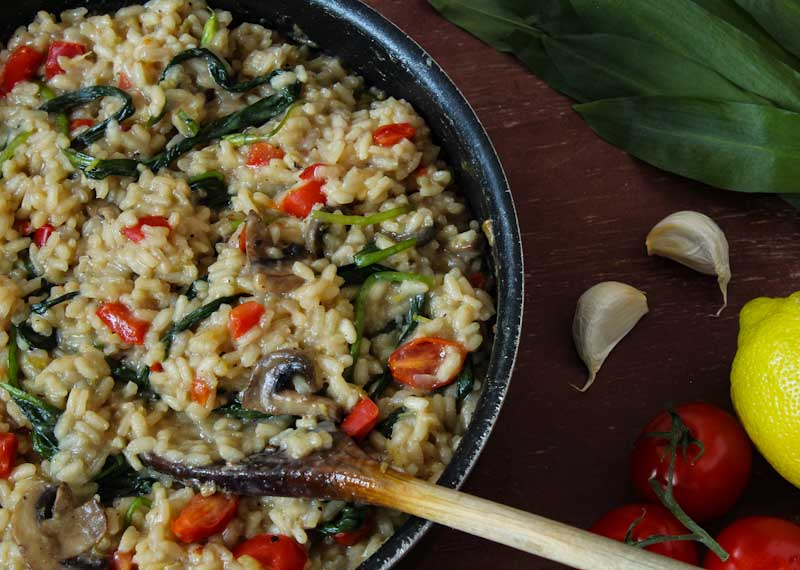 Vegan Risotto Cooked