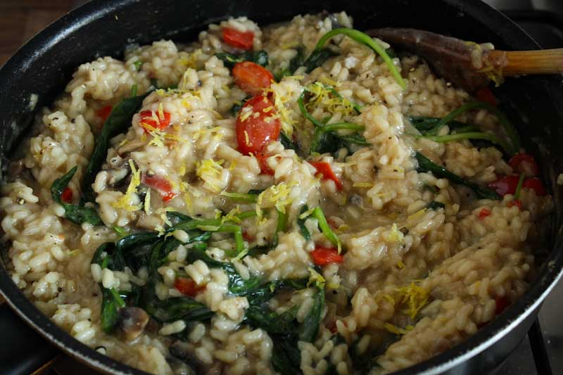 Vegan Risotto Cooking