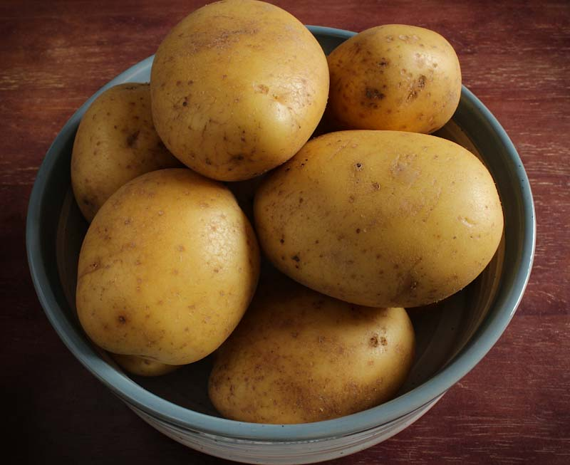 Maris Piper Potatoes in Bowl