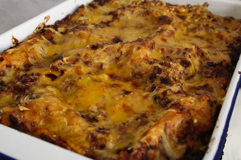 Baked Vegan and Gluten-Free Lasagne Close-Up