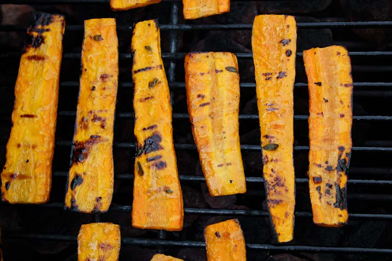 Grilled Carrots on BBQ