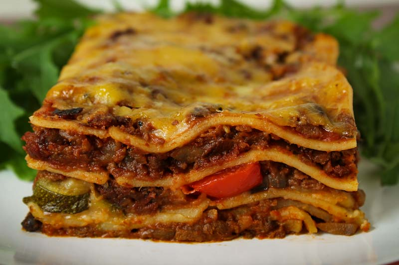 Vegan and Gluten-Free Lasagne Slice