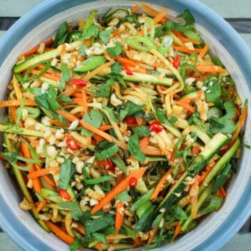 Courgette and Carrot Salad Close-Up