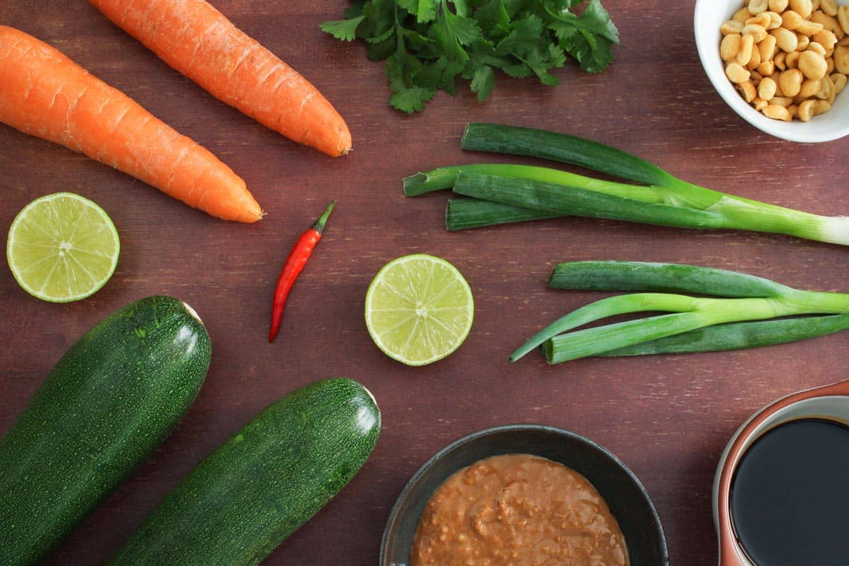 Courgette and Carrot Salad Ingredients