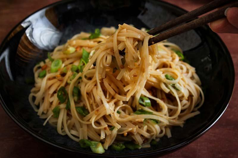 Vegan Peanut Butter Noodles Chopsticks
