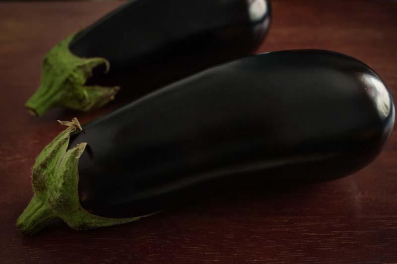 Aubergines Eggplant Close-Up