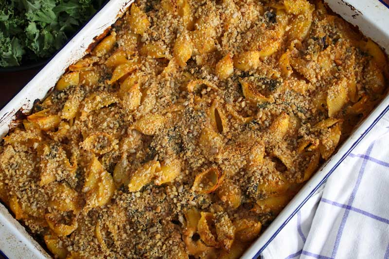 Vegan Butternut Squash Pasta Bake