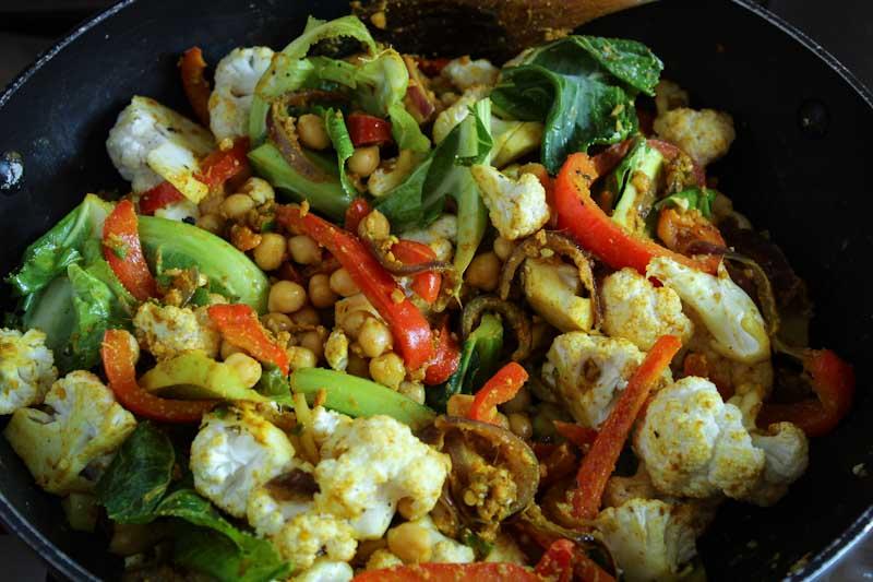 Chickpeas, Cauliflower, Cumin, Coriander, Turmeric Mix