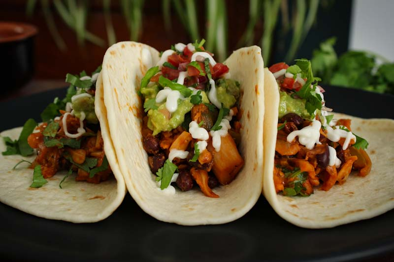 Easy Vegan Jackfruit Tacos Close-Up