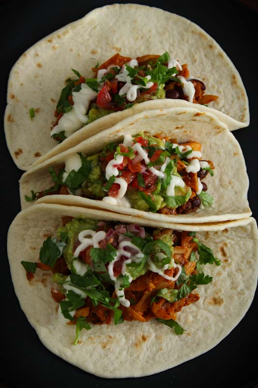 Easy Vegan Tacos Overhead
