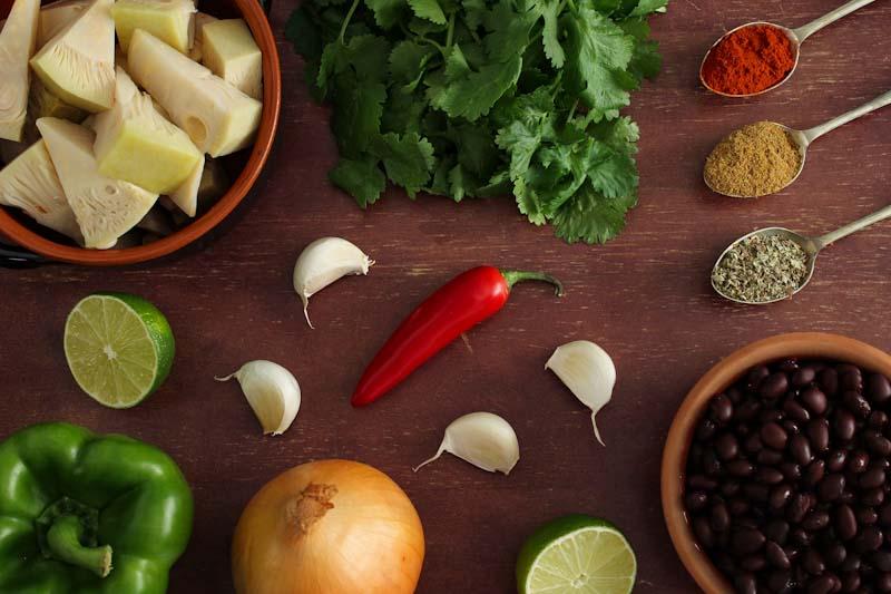 Easy Vegan Jackfruit Tacos Ingredients