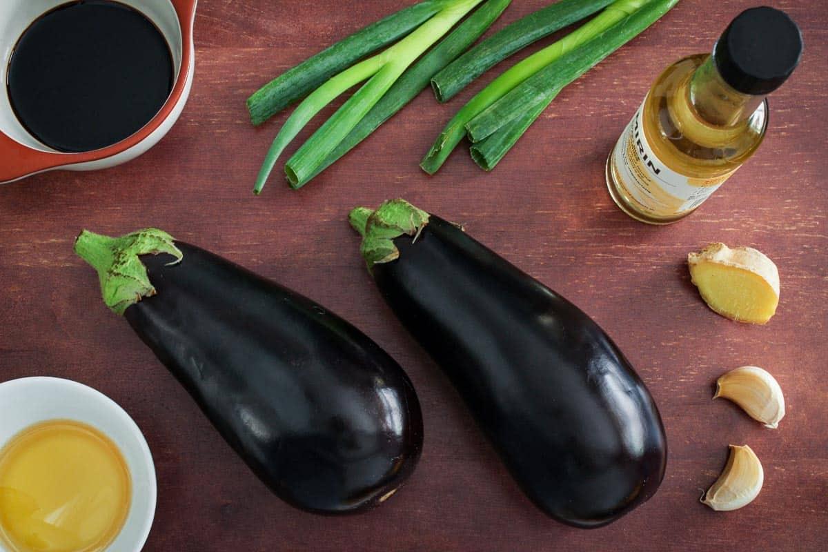Teriyaki Aubergine Ingredients