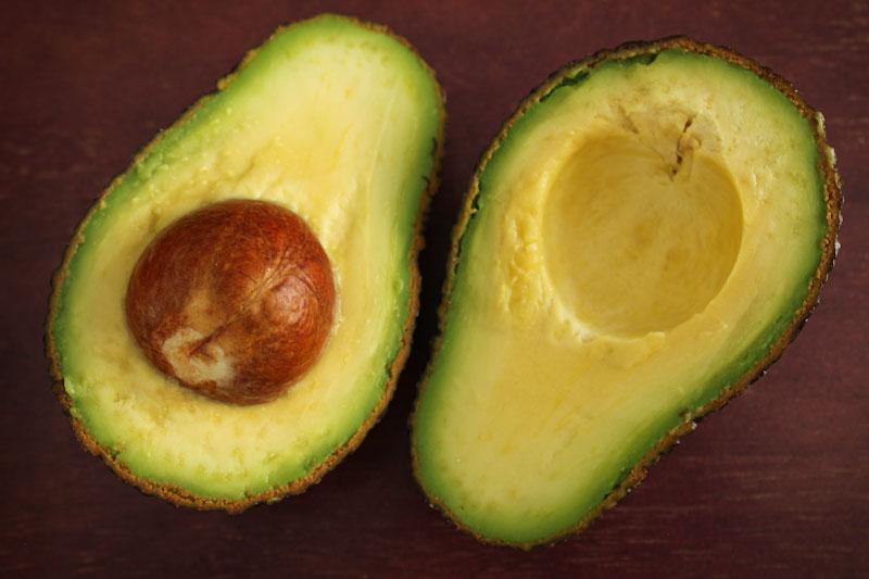 Ripe Avocado Halves with Stone
