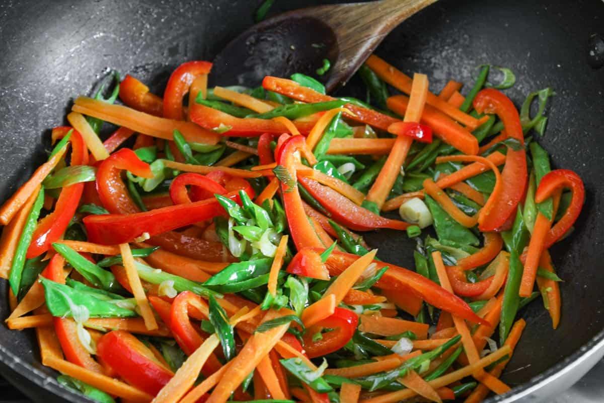 Vegetables Frying in Wok