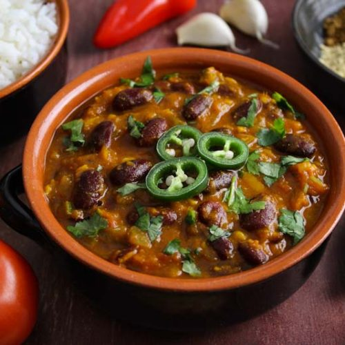 Vegan Rajma Masala with Rice
