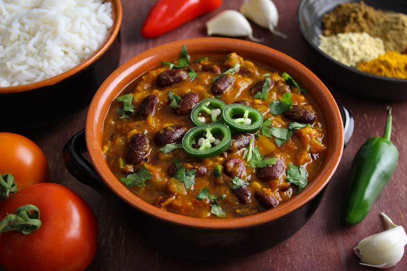 Vegan Rajma Masala with Rice