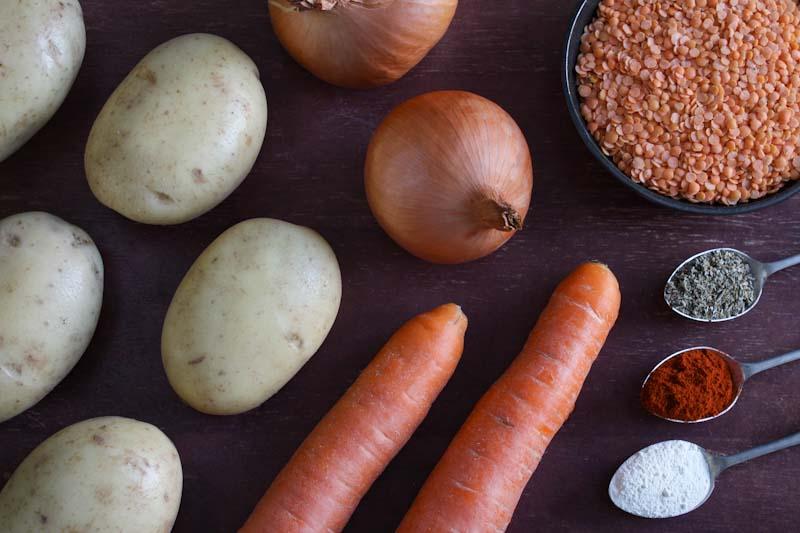 Vegan Stovies Ingredients