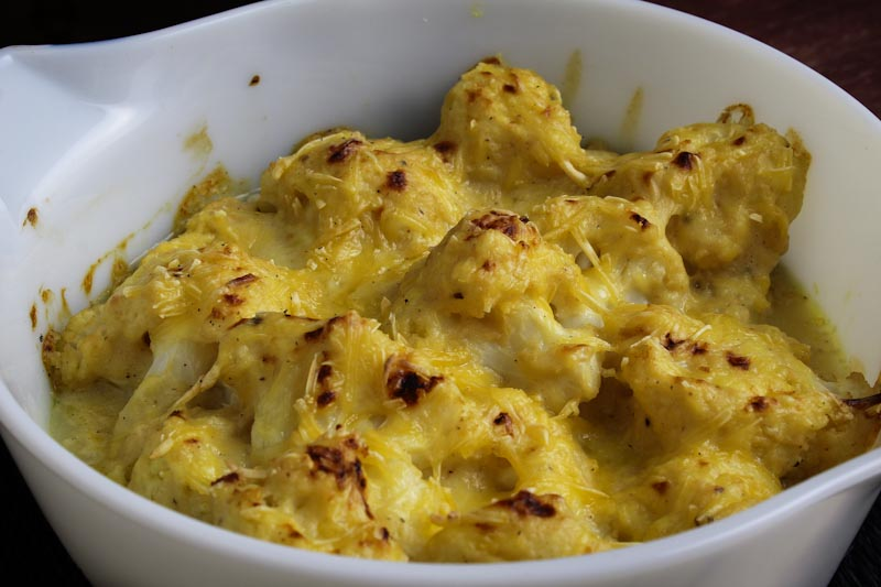 Dairy-Free Cauliflower Cheese in Dish