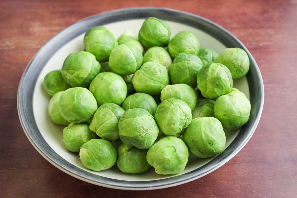 Brussels Sprouts in Bowl Close-Up