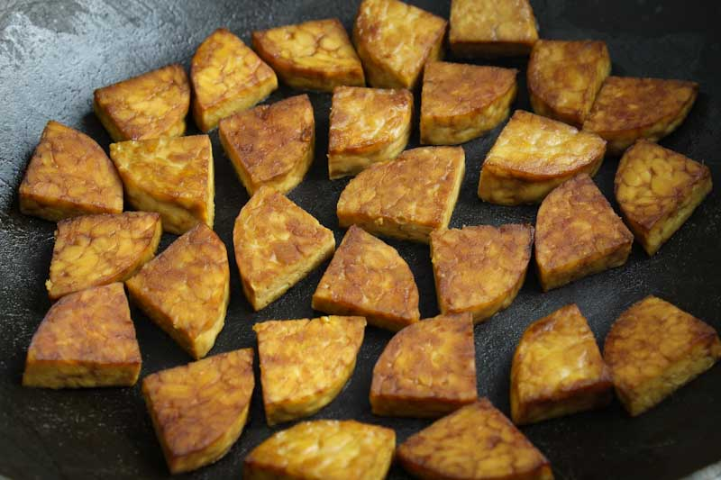 Fried Tempeh in Wok