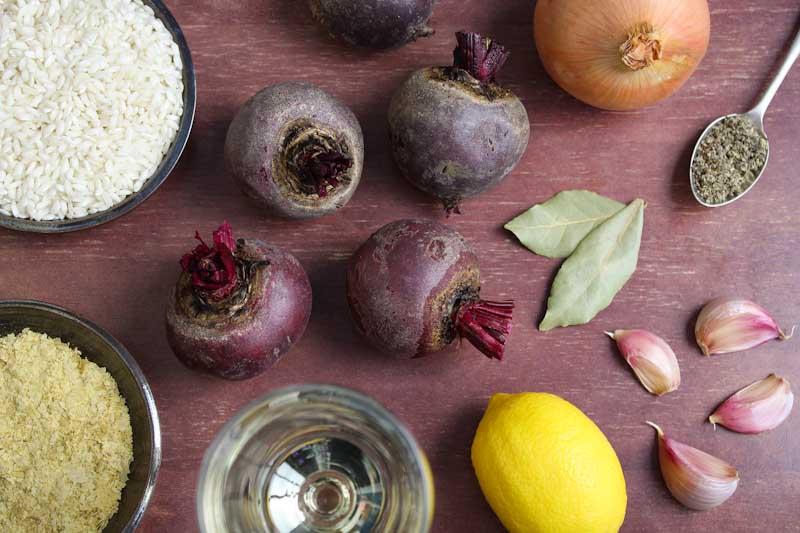 Vegan Beetroot Risotto Ingredients