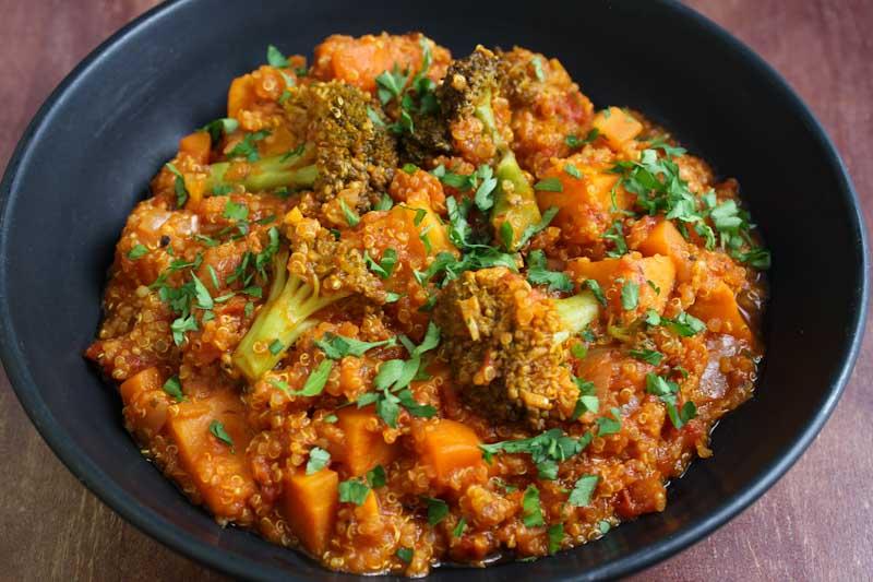 Tomato Quinoa Stew Close-Up