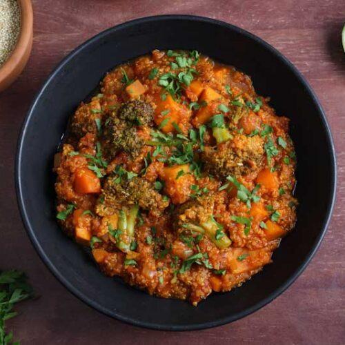 Vegan Quinoa Stew in Bowl