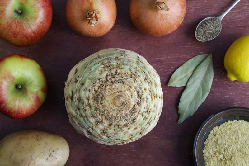 Celery Root and Apple Soup Ingredients