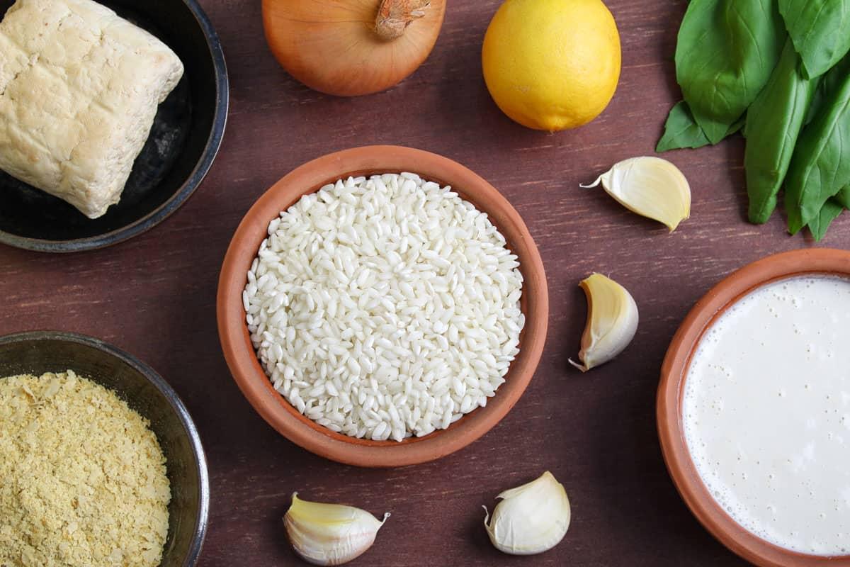 Dairy-Free Tofu Risotto Ingredients
