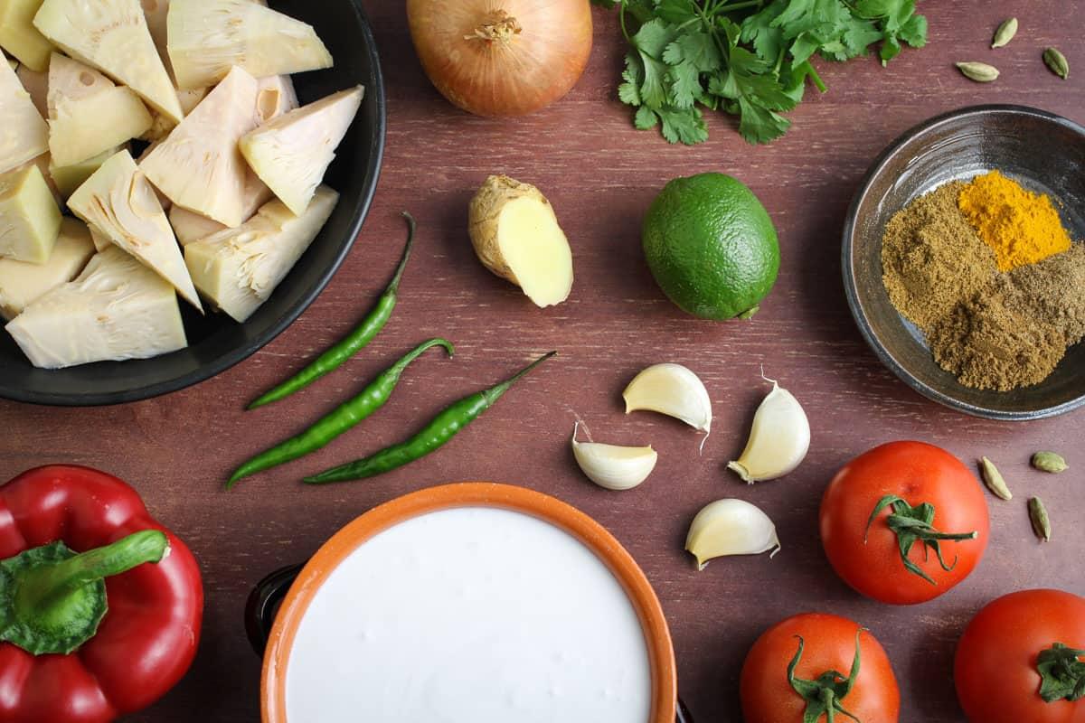 Vegan Jackfruit Curry Ingredients