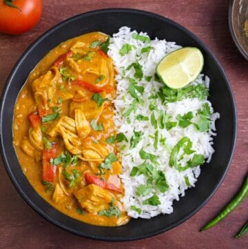 Jackfruit Curry and Rice Feature